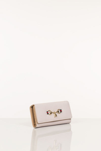 Light Apricot - White Wallet