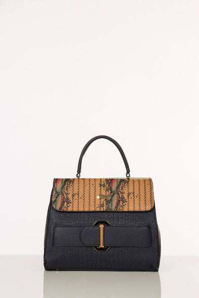 Trendy Hand Bag - Navy