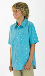 SO FRESH Boys Short Sleeve Shirt - Light blue