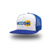 Load image into Gallery viewer, ECOSOL BRIGHT SIDE Trucker Cap - blue white