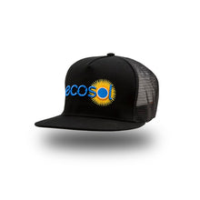 Load image into Gallery viewer, ECOSOL BRIGHT SIDE Trucker Cap - black