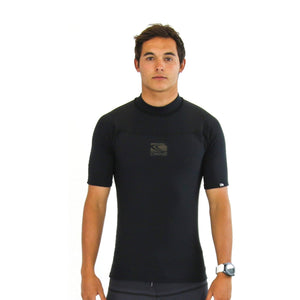 NEMESIS BLACK Mens short sleeve Thermal Rashie-1
