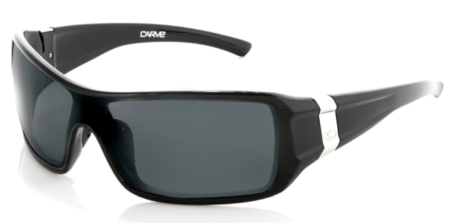KORBIN Polarized Sunglasses by Carve | Gloss Black frame | Grey lens