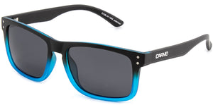 Matt black-blue frame | Grey lens