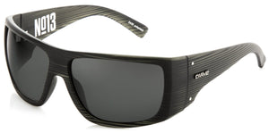 matt black stripe frame | Grey lens