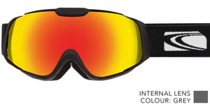Gloss black frame | red-orange iridium lens