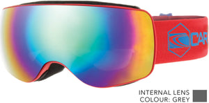 Matt red frame | Blue iridium lens