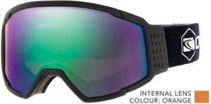 Matt black frame | Green iridium lens