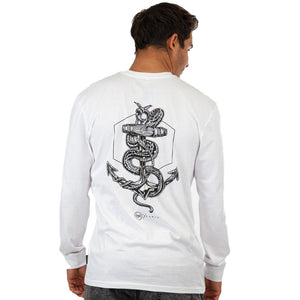 SNAKES & ANCHORS Boys L/S T-Shirt - white