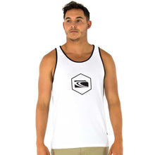 Load image into Gallery viewer, BURLEIGH-17 Mens Singlet - white