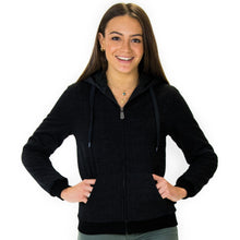Load image into Gallery viewer, LEVELS Ladies Sherpa Lined Hoodie - black