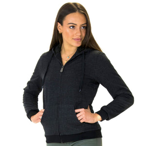 LEVELS Ladies Sherpa Lined Hoodie - black