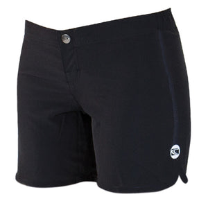 BEACH WAY ladies Scoop Leg Board short - black