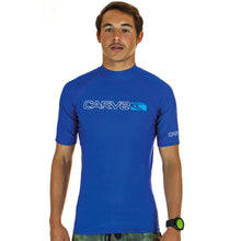 Load image into Gallery viewer, OVERHEAD Mens Short Sleeves Rashie - royal