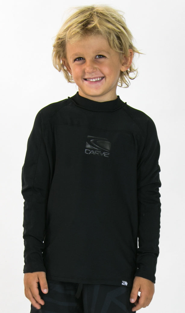 EX-NEMISIS BLACK Toddlers Long Sleeve Thermal Rashie