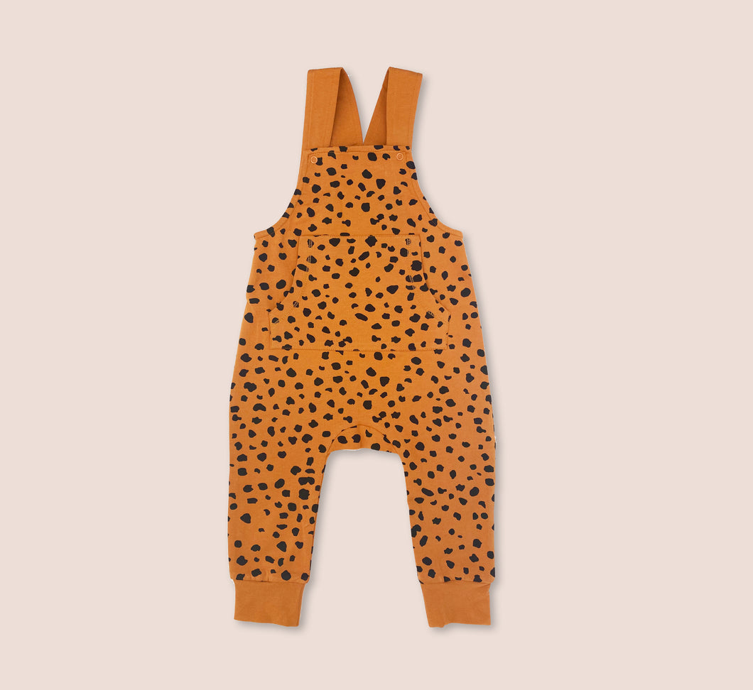 Cheetah Spot Dungarees - Play Cotton