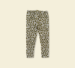Green Cheetah Spot Leggings - Play Cotton
