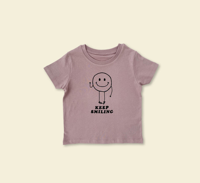 Keep Smiling Tee - Play Cotton