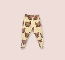 Load image into Gallery viewer, Cheetah Face Little Leggings with Feet - Play Cotton