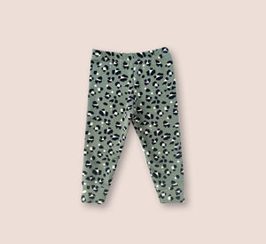 Leopard Print Green Leggings - Play Cotton