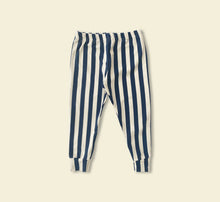 Load image into Gallery viewer, Blue Stripe Leggings - Play Cotton