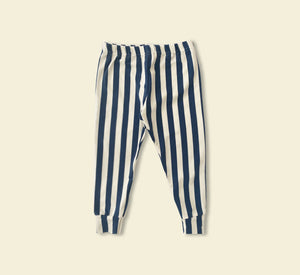 Blue Stripe Leggings - Play Cotton