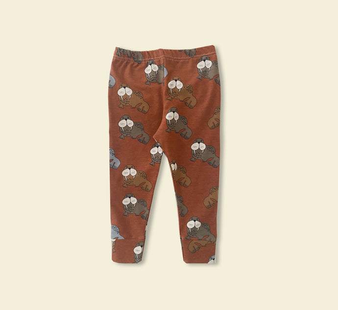 Burnt Red Walrus Leggings - Play Cotton
