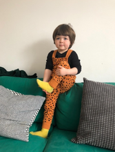 Load image into Gallery viewer, Cheetah Spot Dungarees - Play Cotton