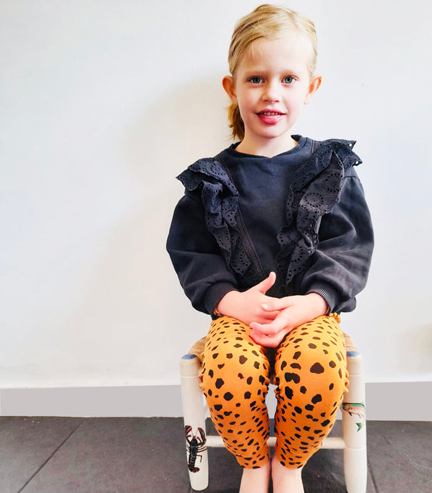 Terracotta Cheetah Leggings - Play Cotton