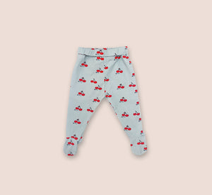 Cherry Little Leggings with Feet - Play Cotton
