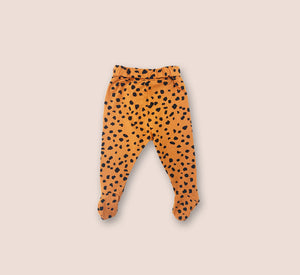 Cheetah Little Leggings With Feet - Play Cotton