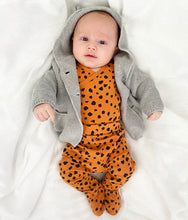 Load image into Gallery viewer, Cheetah Little Leggings With Feet - Play Cotton