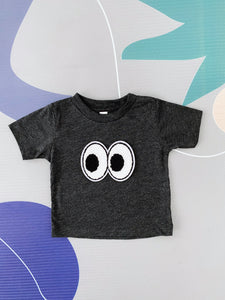 Dark Heather Grey Eye Tee - Play Cotton