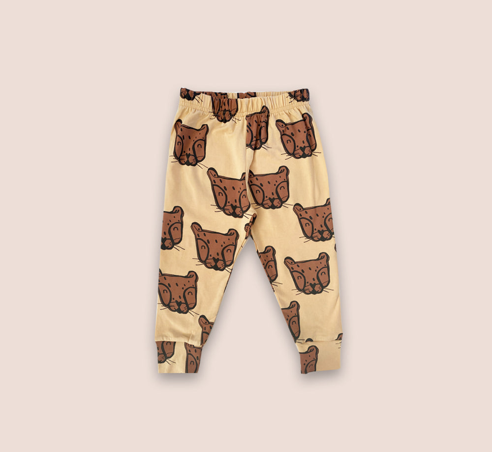 Cheetah Face Leggings - Play Cotton