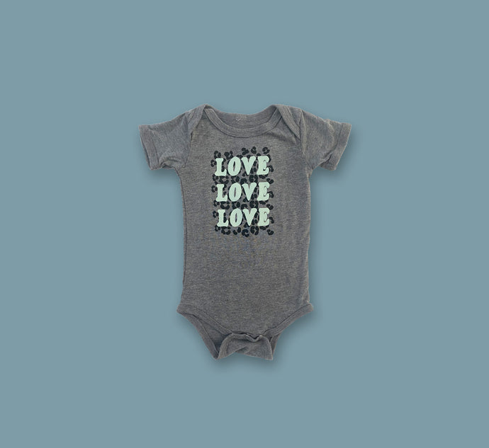 LOVE LOVE LOVE Baby Grow - Play Cotton