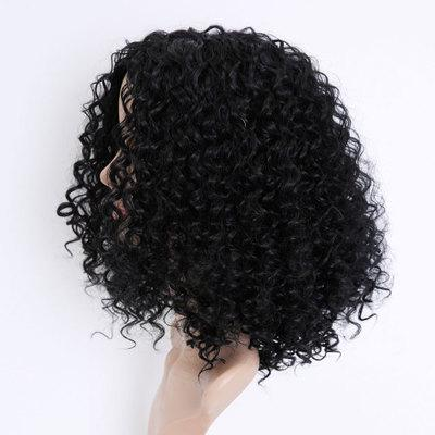 European and American Short Curly Hair Wigs Female African Black Small Volume Explosion Head Chemical Fiber Wig