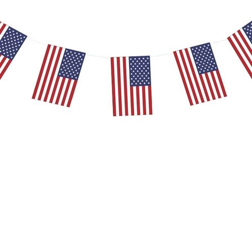 Flagguirlande USA flag