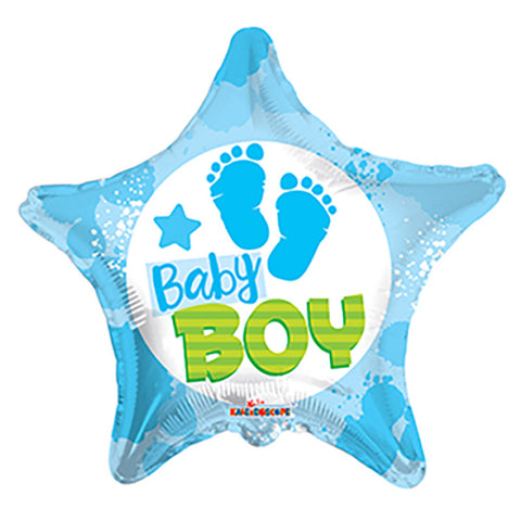 "Folieballon ""Baby BOY"" - Send med Helium"