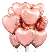 "Ballon 18"" Rose gold folie hjerte"