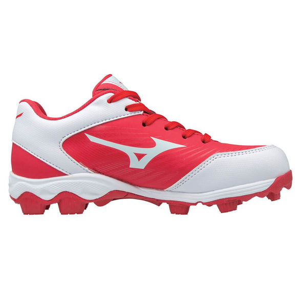 MIZUNO YOUTH 9 SPIKE ADVANCED FRANCHISE 9 RED/WHITE BASEBALL CLEAT