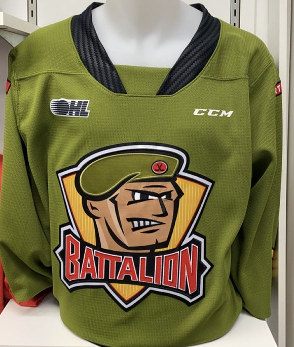 2020-2021 NORTH BAY BATTALION JERSEY (GREEN)
