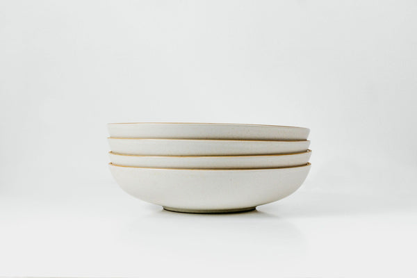 Shallow Bowl in Marshmallow Glaze