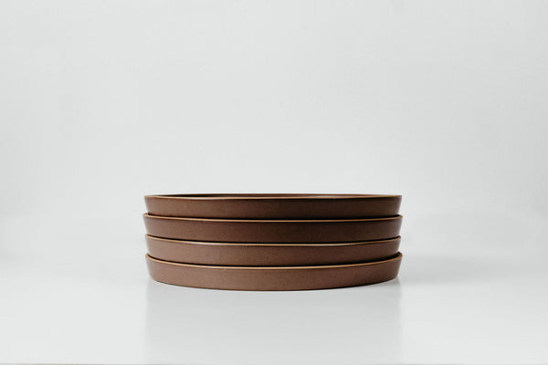 Entree Plates in Brandy Red Glaze