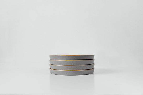 Side Plates in Aqua Grey Glaze