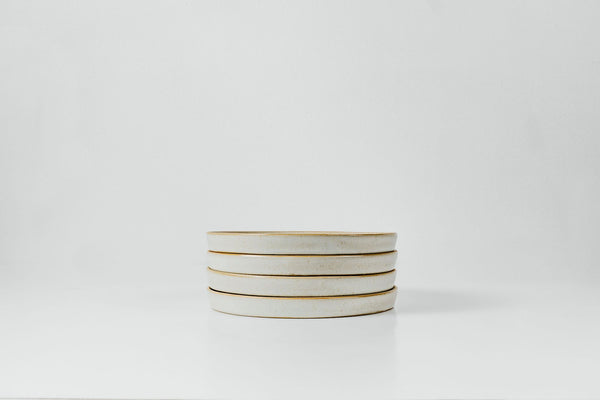 Side Plates in Marshmallow Glaze