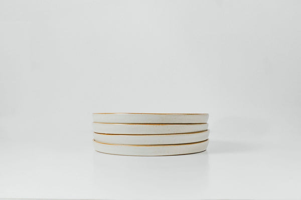 Salad Plates in Marshmallow Glaze