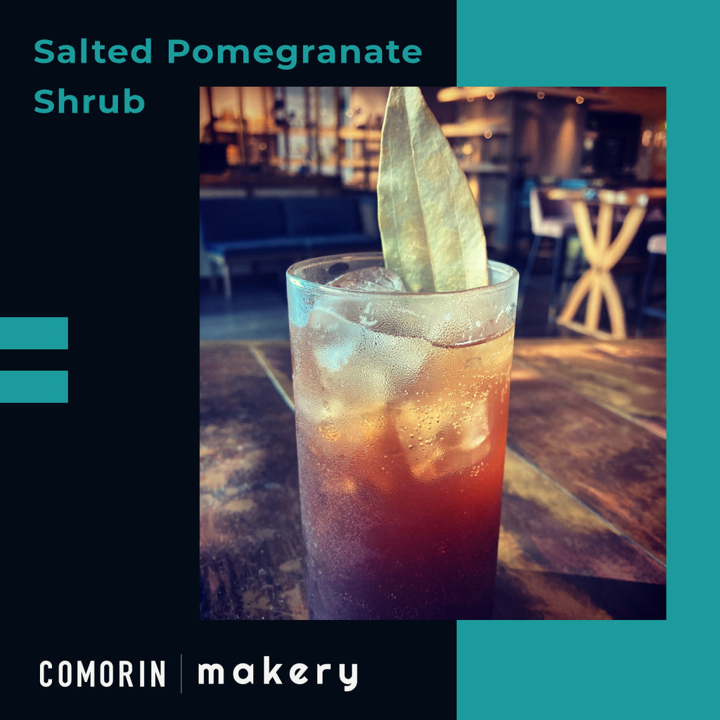 salted pomegranate shrub