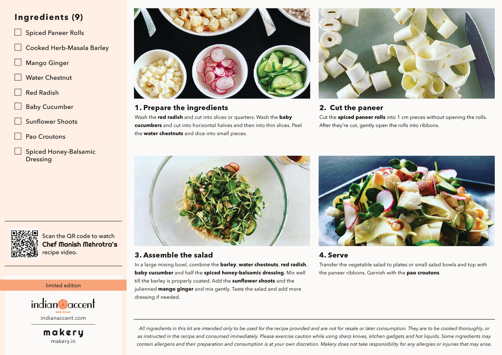 recipe steps of paneer water chestnut and herb barley salad