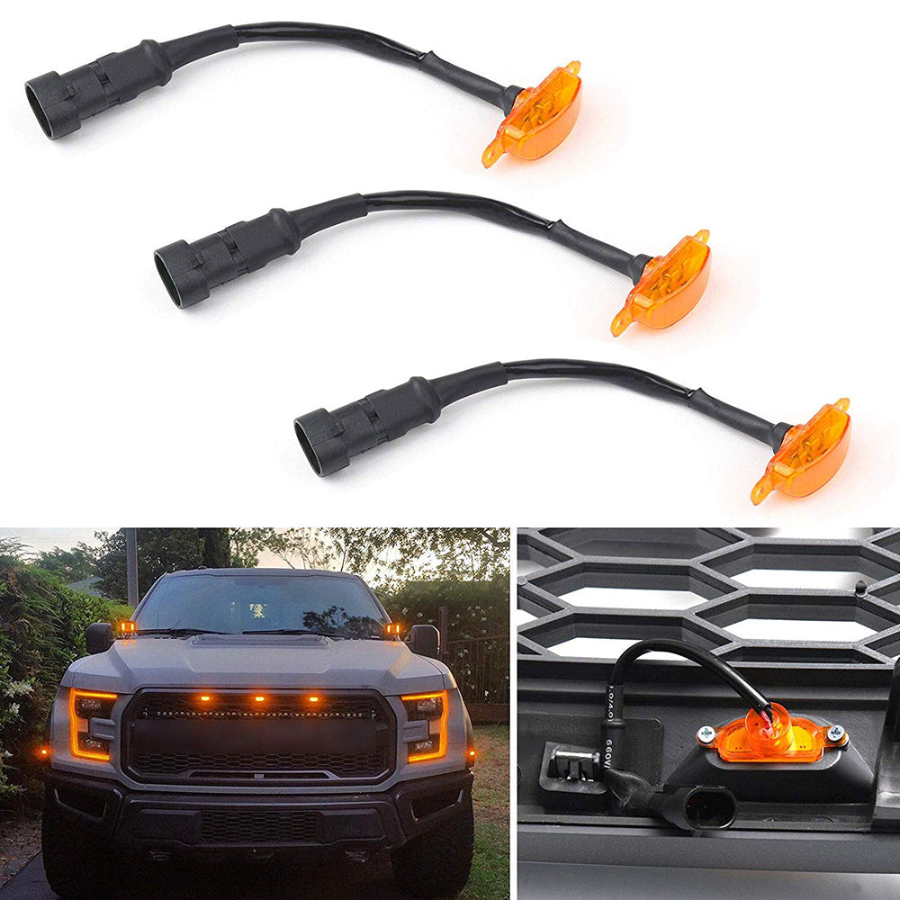 Ford F150 Raptor Front Grille Yellow Small Led Light
