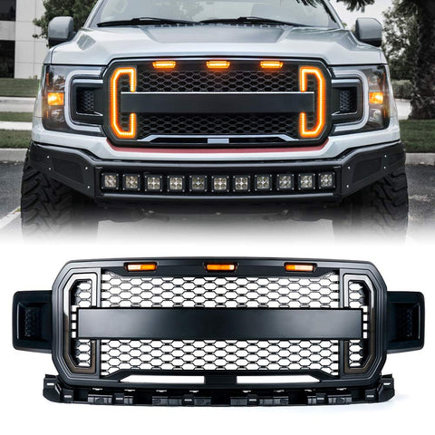 Ford F-150 Raptor 2018-2019 Front Grill with DRL